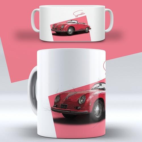 """ChromeCars® Tasse """"Untouched Desire Porsche 356 Speedster"""""""