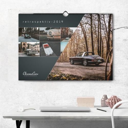 Wandkalender - retrospektiv 2019 (DIN A2)