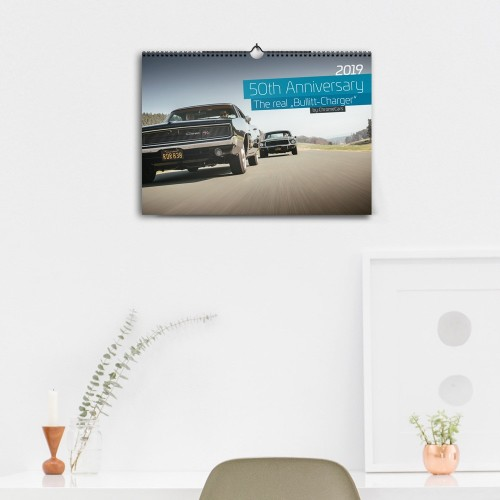 "ChromeCars® Wandkalender ""The Real Bullitt Charger"" 2019 (DIN A3)"