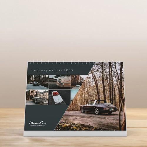 "ChromeCars® Tischkalender ""Retrospectiv"" 2019 (DIN A5)"